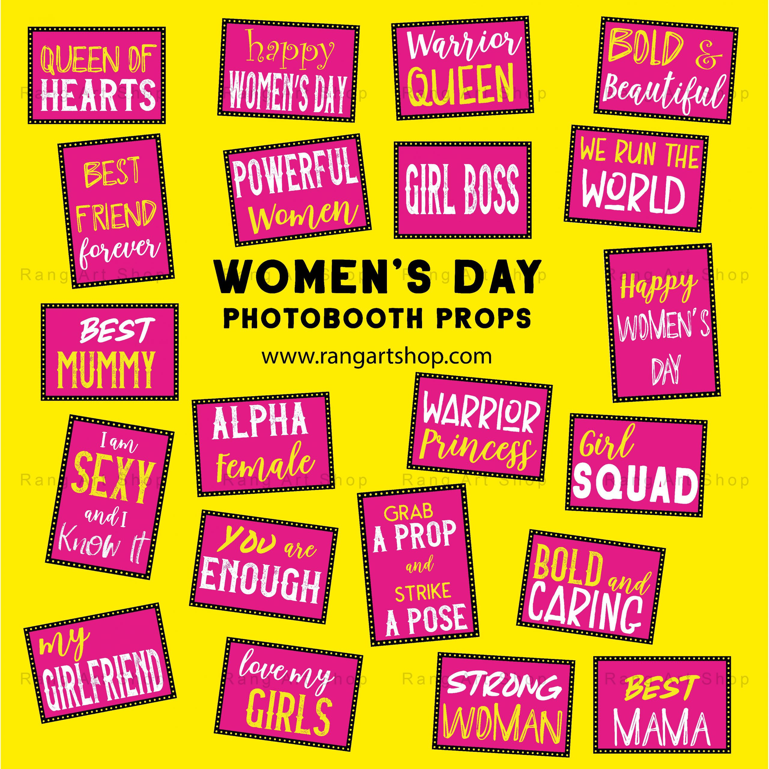 Feminist party supplies Instant download Printable Women/'s Rights Photo Booth Props Women/'s Empowerment